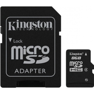 8 GB MicroSDHC SDHC Card KINGSTON (SDC4/8GB)