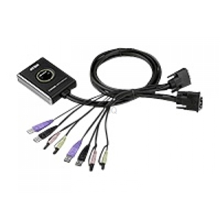 Umschalter ATEN KVM-Switch USB DVI AUDIO Black HDCP